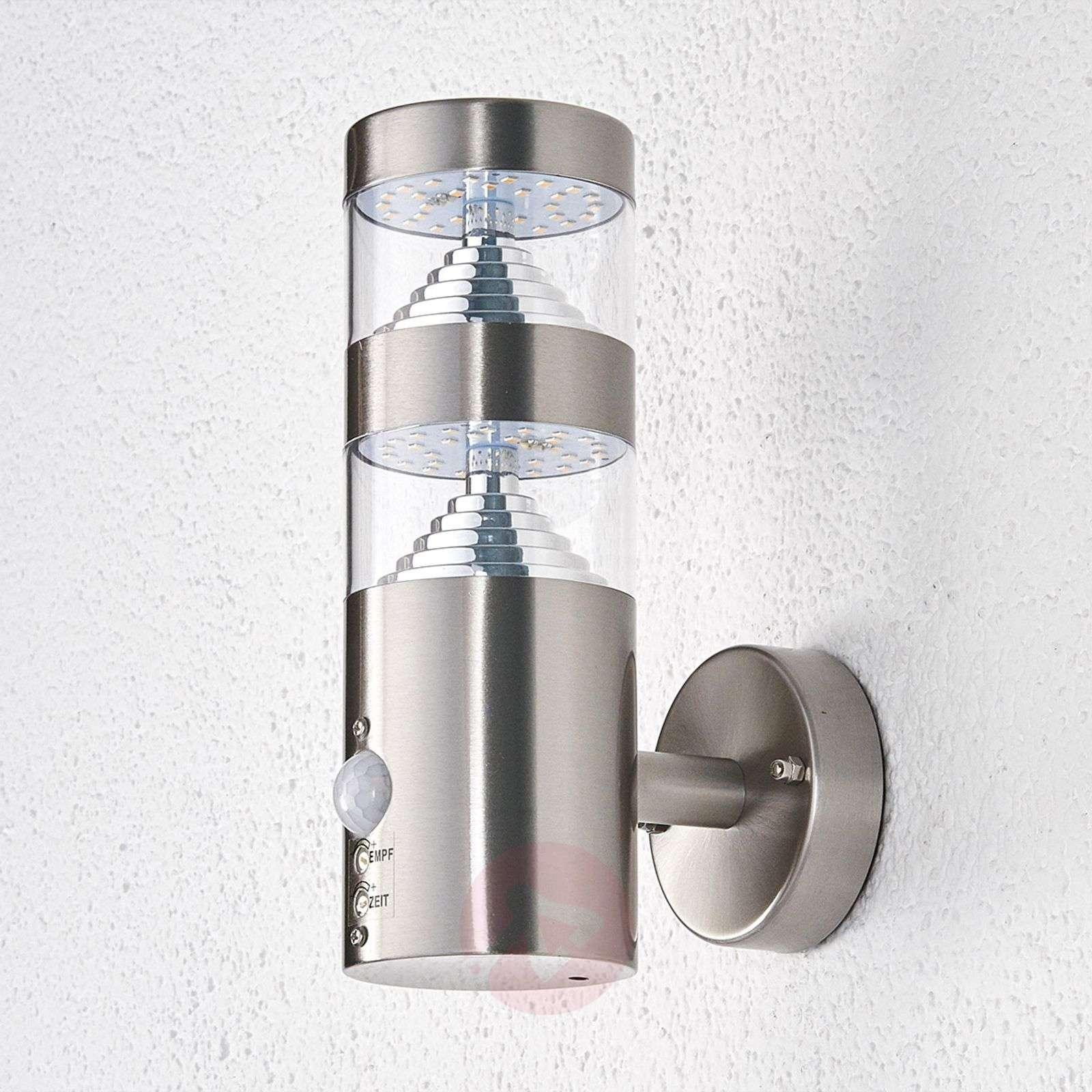 Lanea LED outdoor wall light, straight, sensor-9988006-02