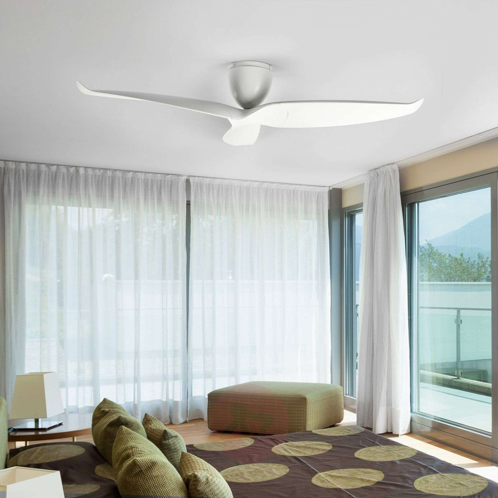 Large ceiling fan Seraphine, white, 152.4 cm-1068014-021