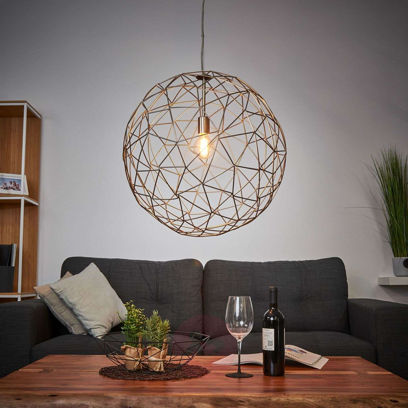 Large pendant lamp Cage made of metal-8507934-01