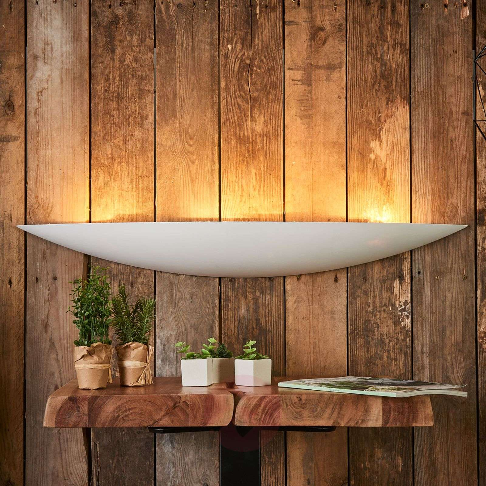 Large plaster wall lamp Tommi in white-9613070-05