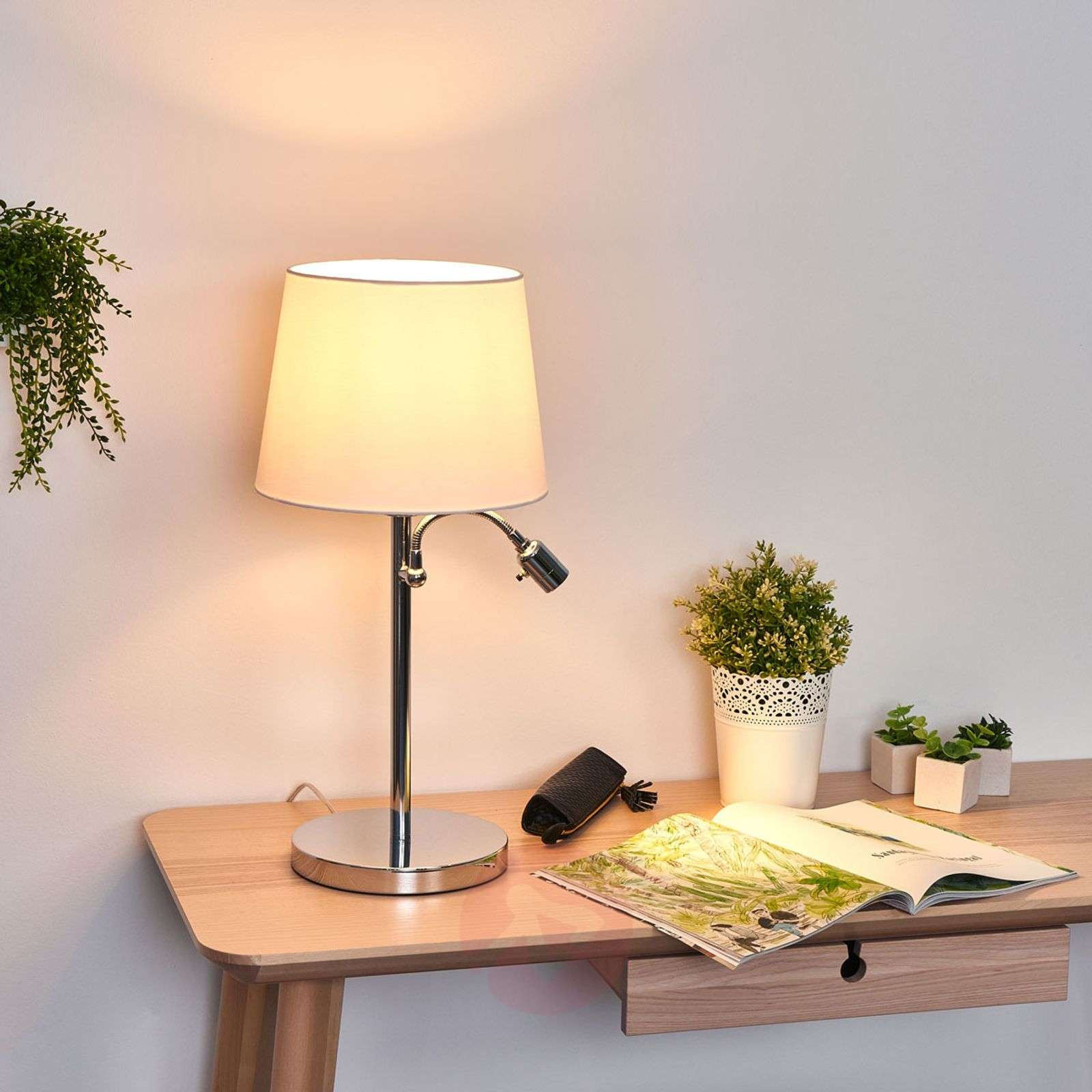 Lavo table lamp with LED reading light-4580680-01
