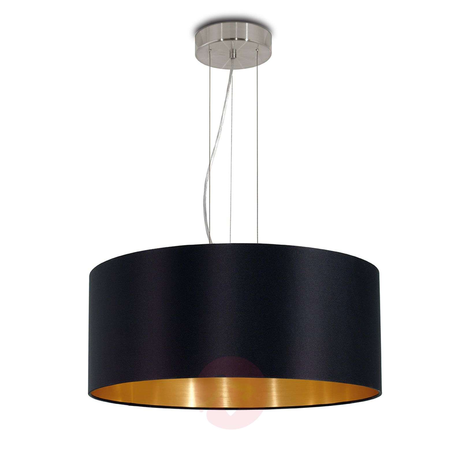 Lecio black-gold fabric hanging light-3031696-01