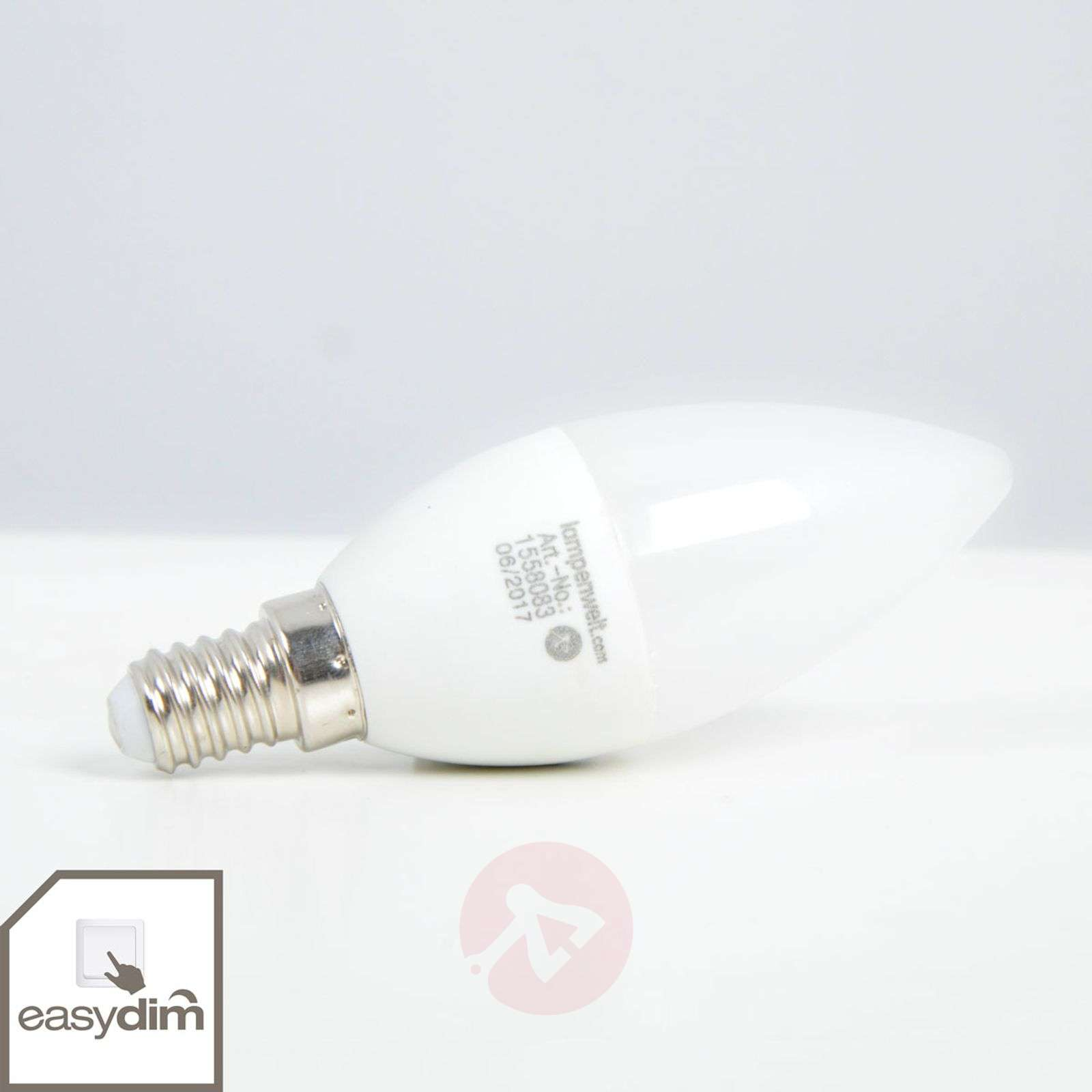 LED candle bulb E14 5 W, warm white, easydim-1558083-01