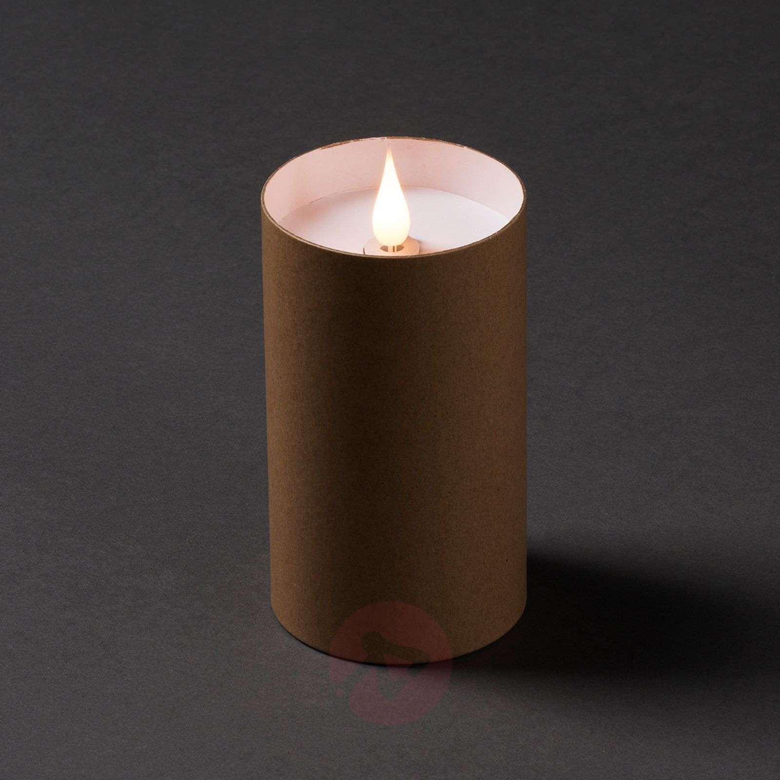 LED candle in cylinder with lid 3D flame-5524832X-01
