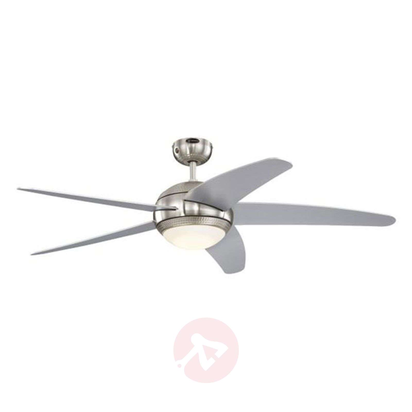 LED ceiling fan Bendan silver-coloured blades-9602289-02