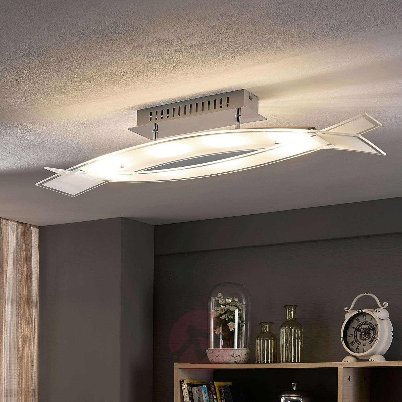 LED ceiling lamp Elina made from glass-9620834-02