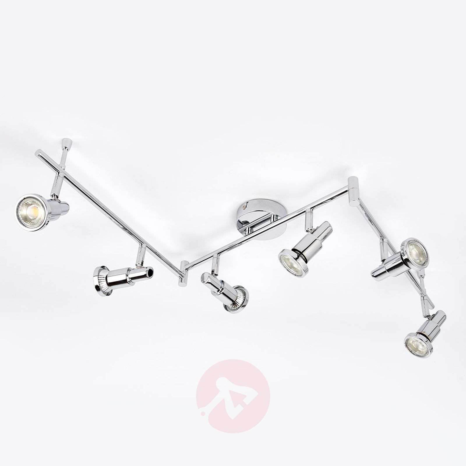 LED ceiling lamp Thom with adjustable arms, 6-bulb-9954016-012