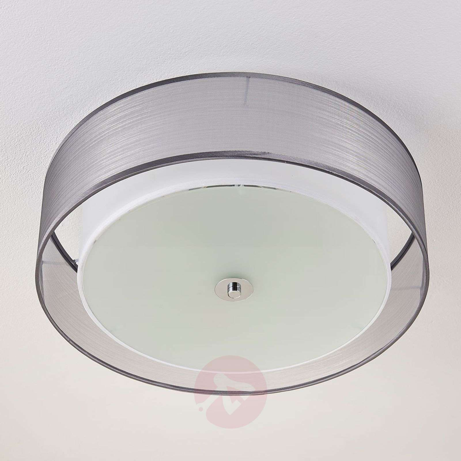 LED ceiling lamp Tobia dimmable by a switch, grey-9621293-02