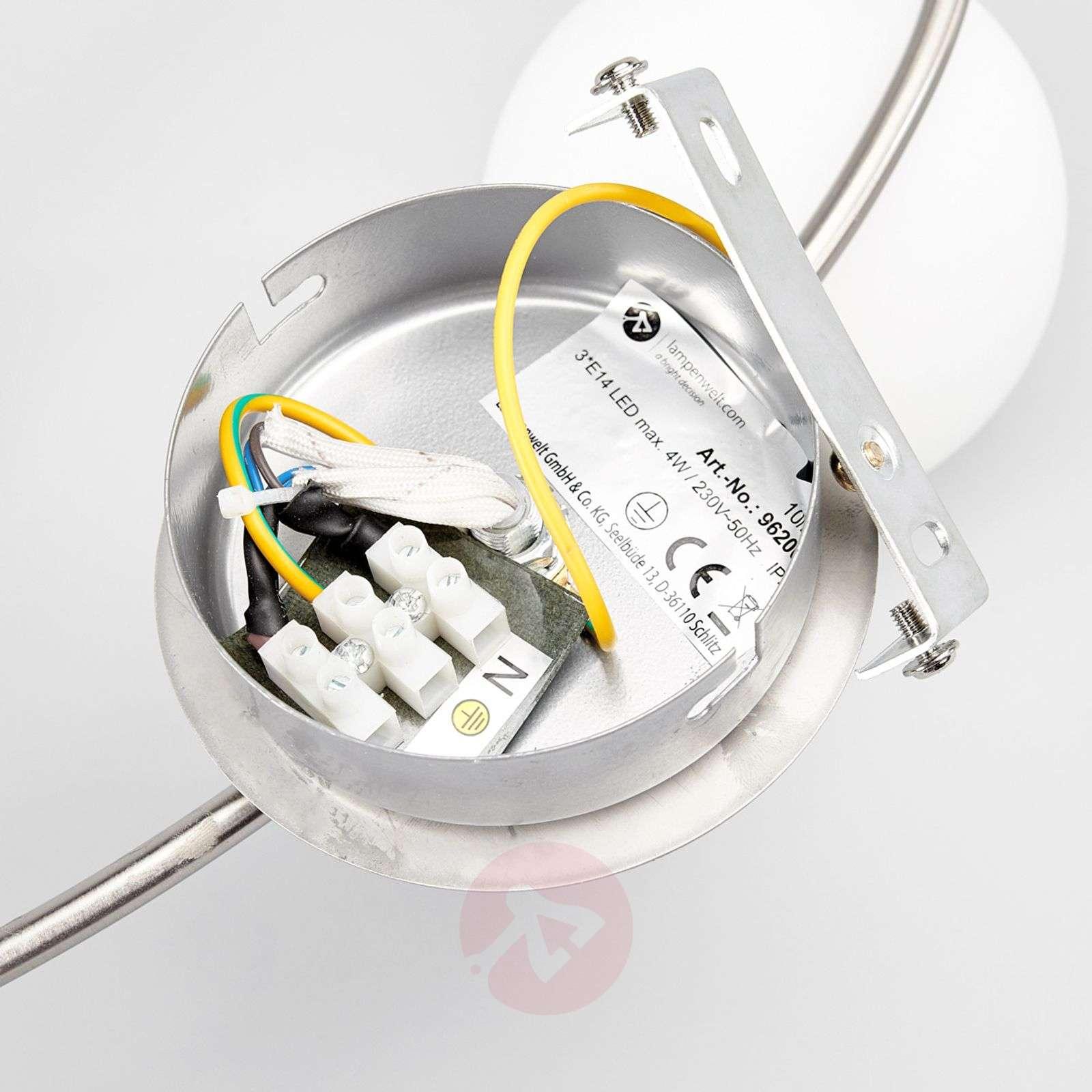 LED ceiling light Elaina, 3-bulb nickel matte-9620032-01