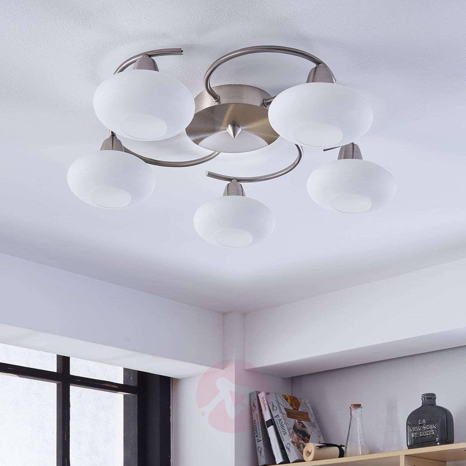 LED ceiling light Espen, matt nickel finish-9620549-030