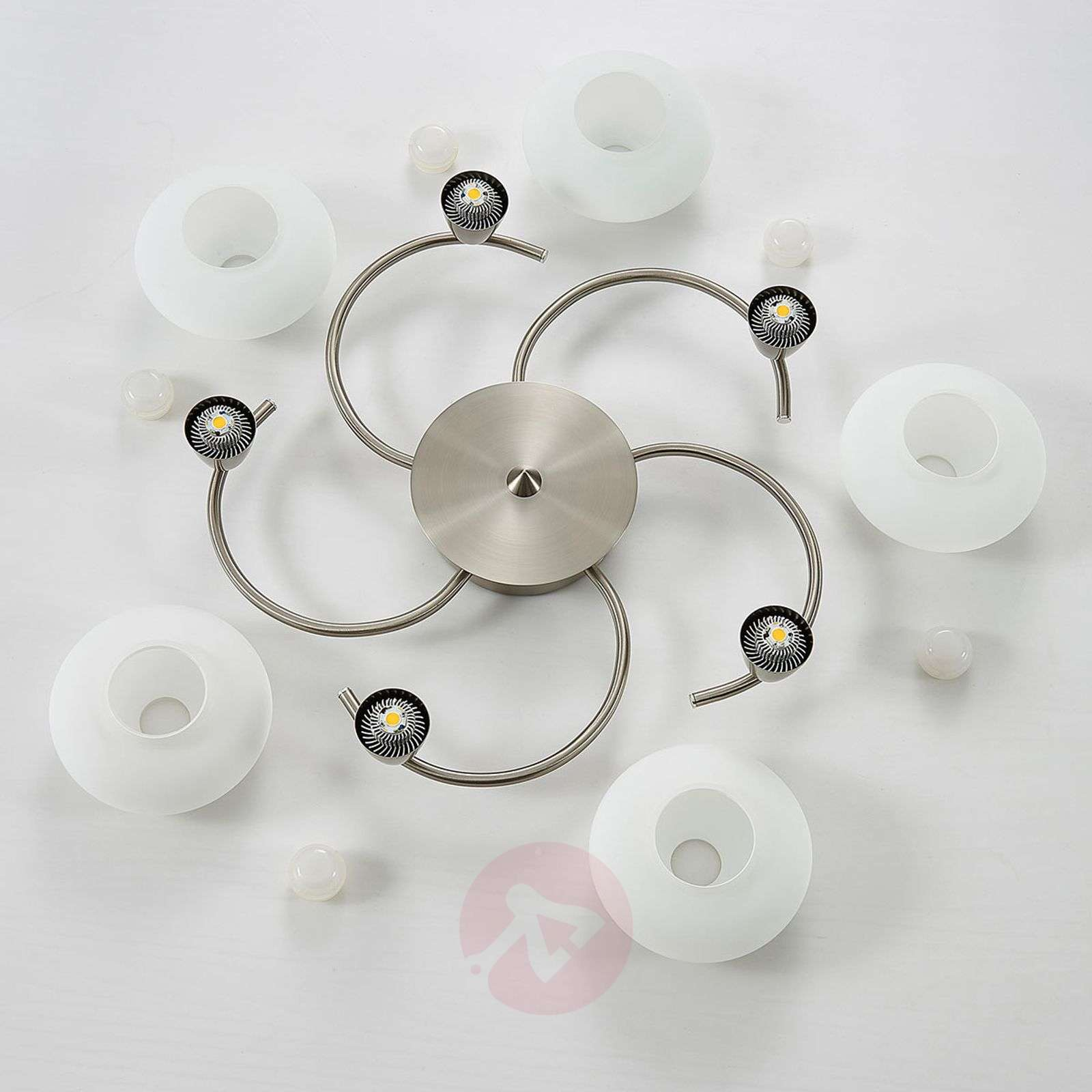 LED ceiling light Espen, matt nickel finish-9620549-030