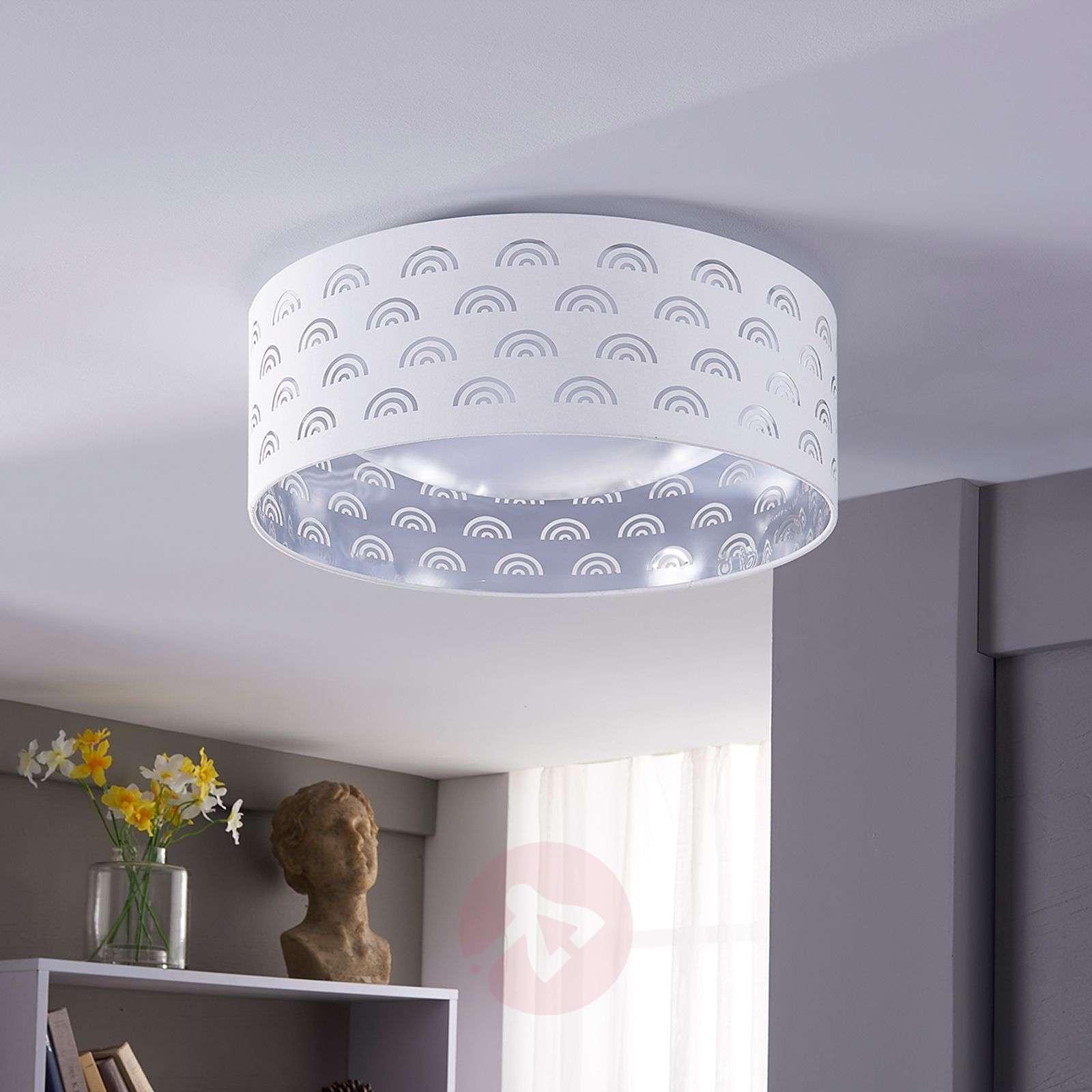 LED ceiling light Jorunn in white, silver inside-9620940-01
