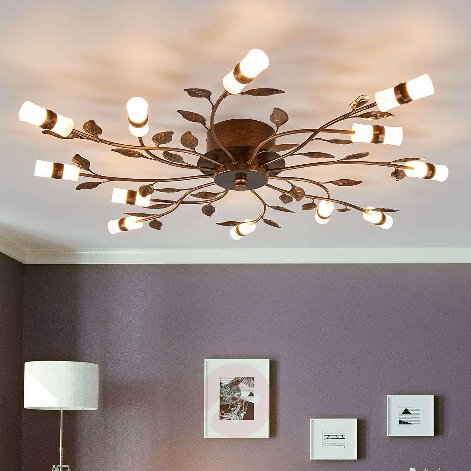 LED ceiling light Milian with a leaf design-9981026-02
