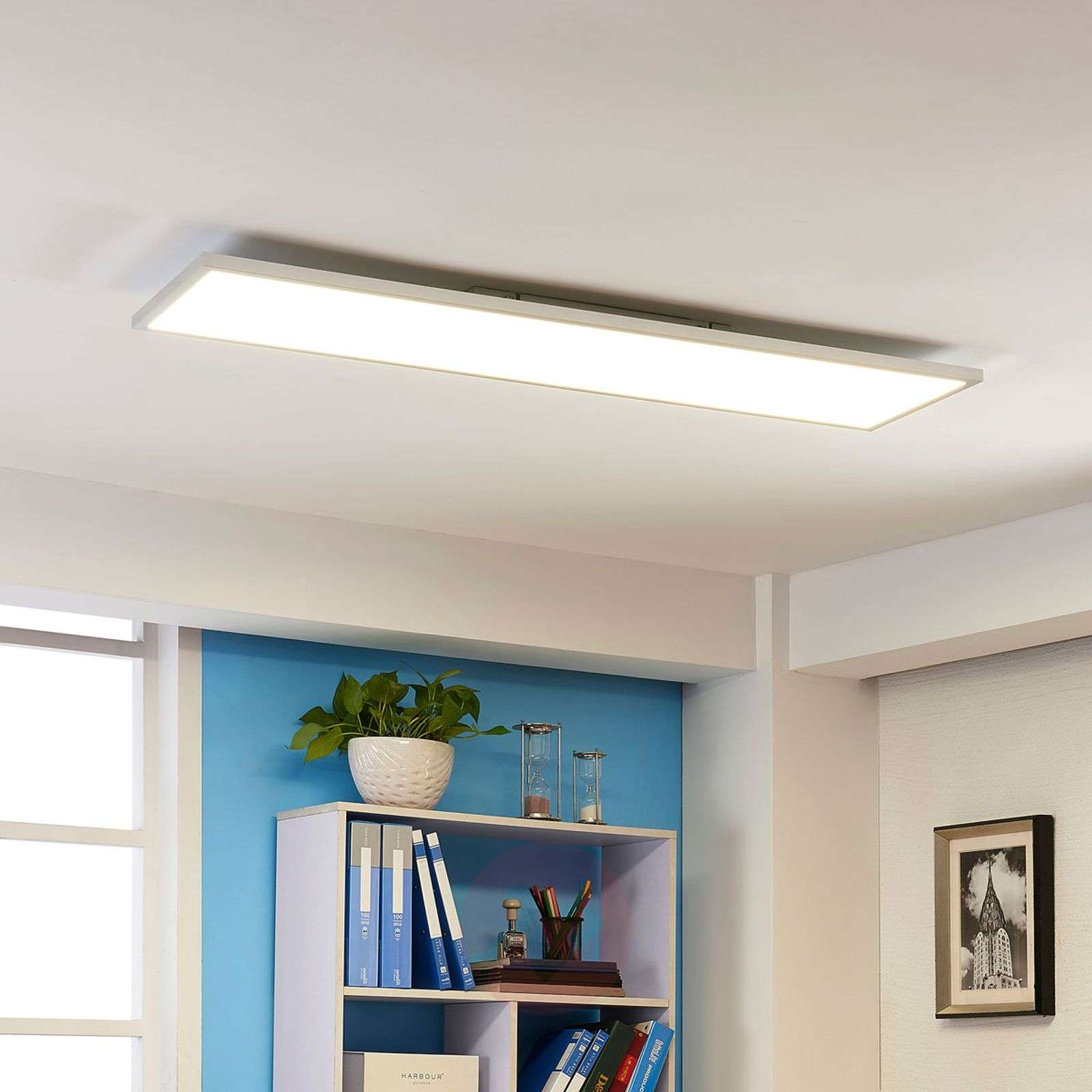 LED ceiling panel Arthur, cool white 40 W-9621217-02