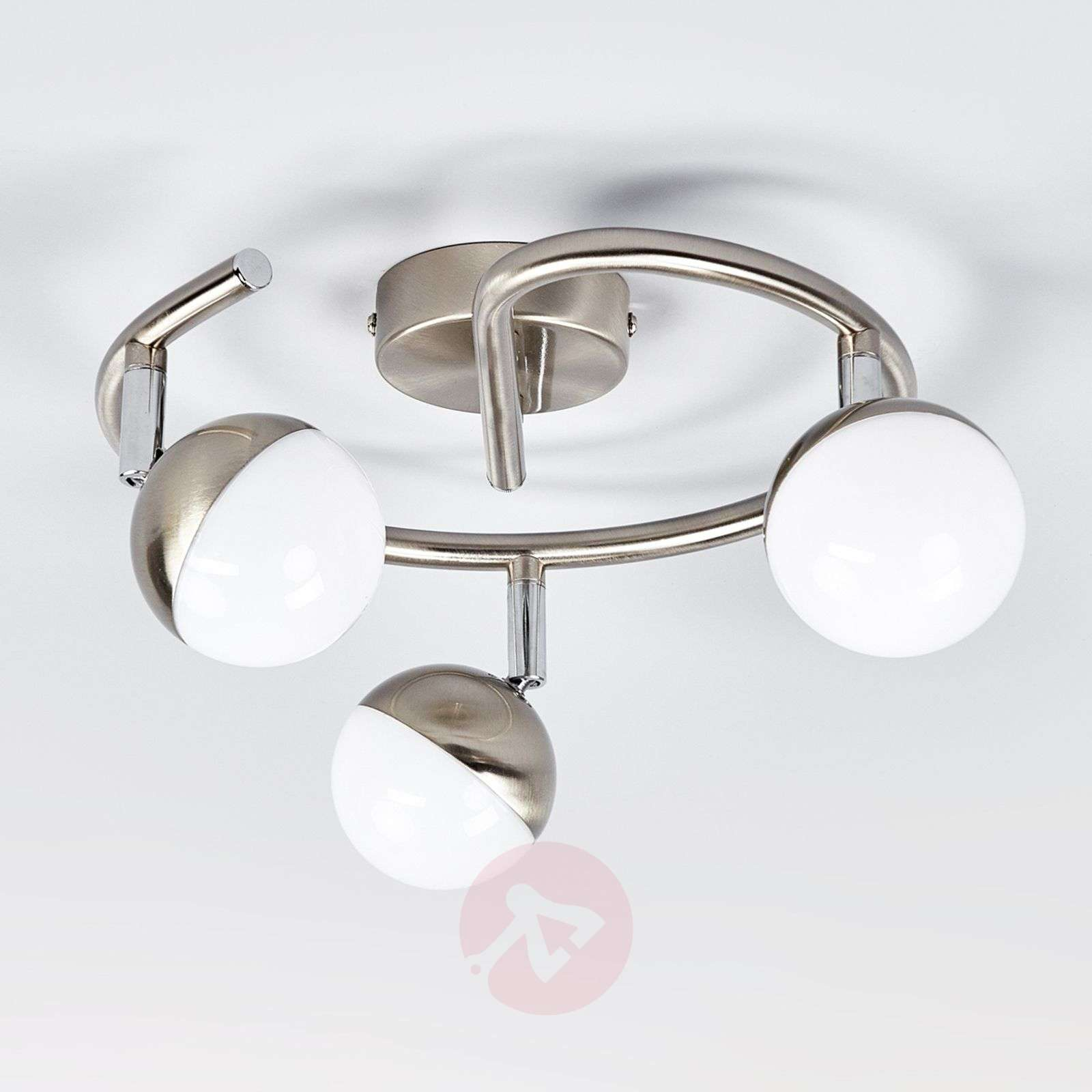 LED circular ceiling spotlight Jonne, 3-bulb-9987057-04