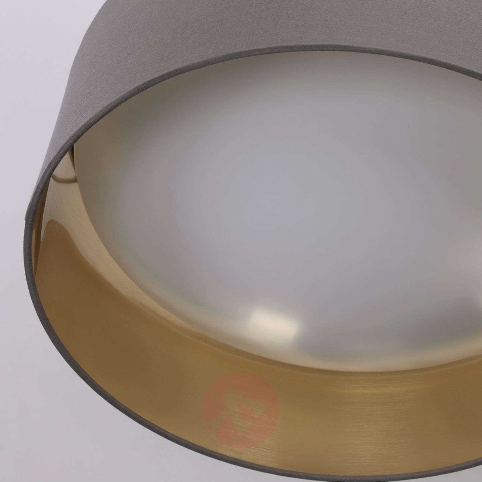 LED fabric ceiling lamp Coleen in grey and gold-9620644-01