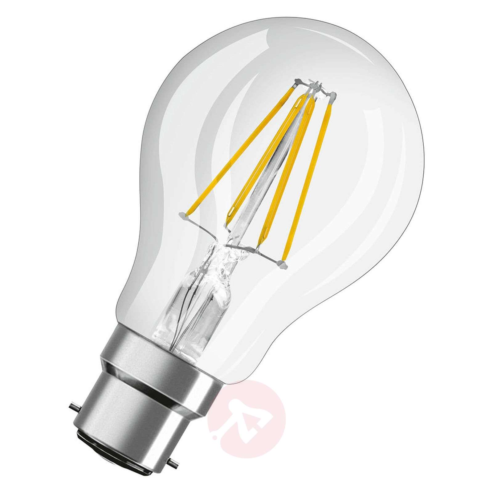LED filament bulb B22d 7W, warm white, set of 3-7262100-01