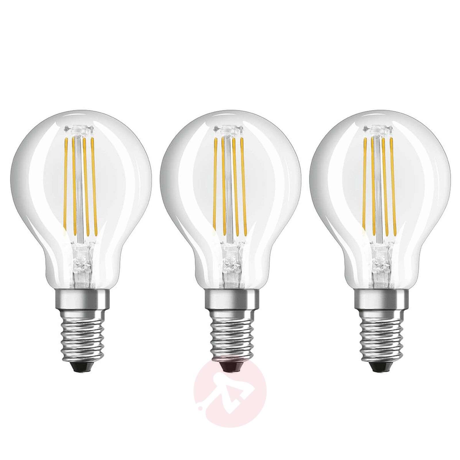 LED filament bulb E14 4,5 W warm white, set of 3-7262099-01
