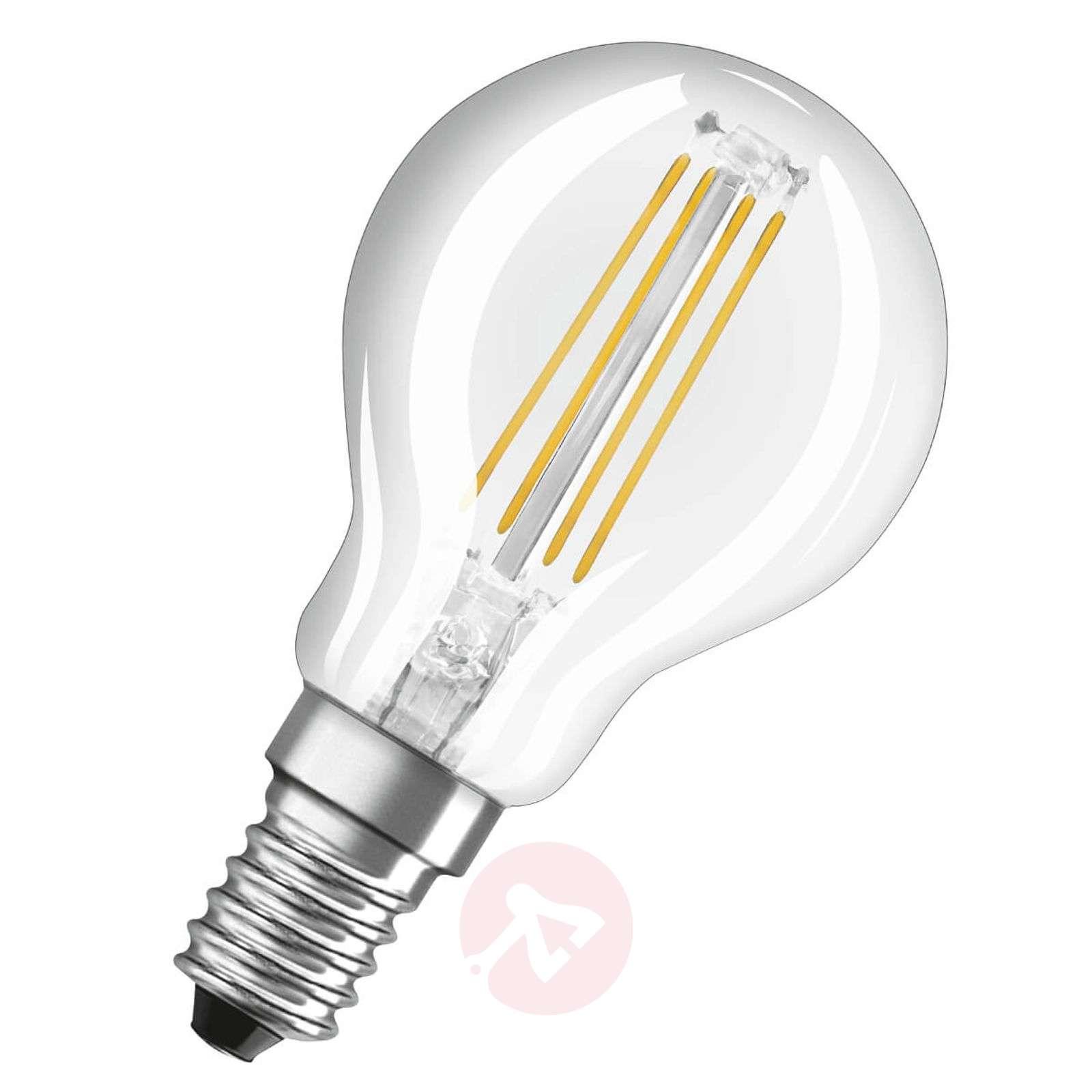 LED filament bulb E14 4 W warm white, set of 3-7262099-01