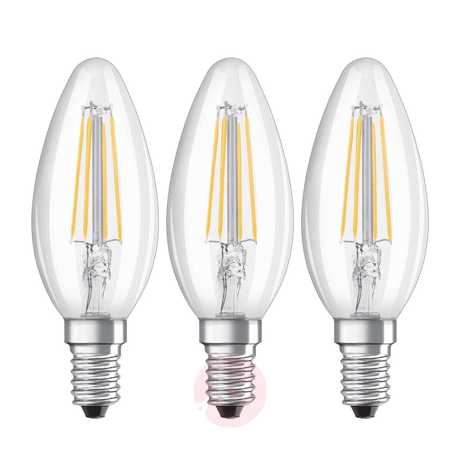 LED filament bulb E14 4W, warm white, set of 3-7262098-01