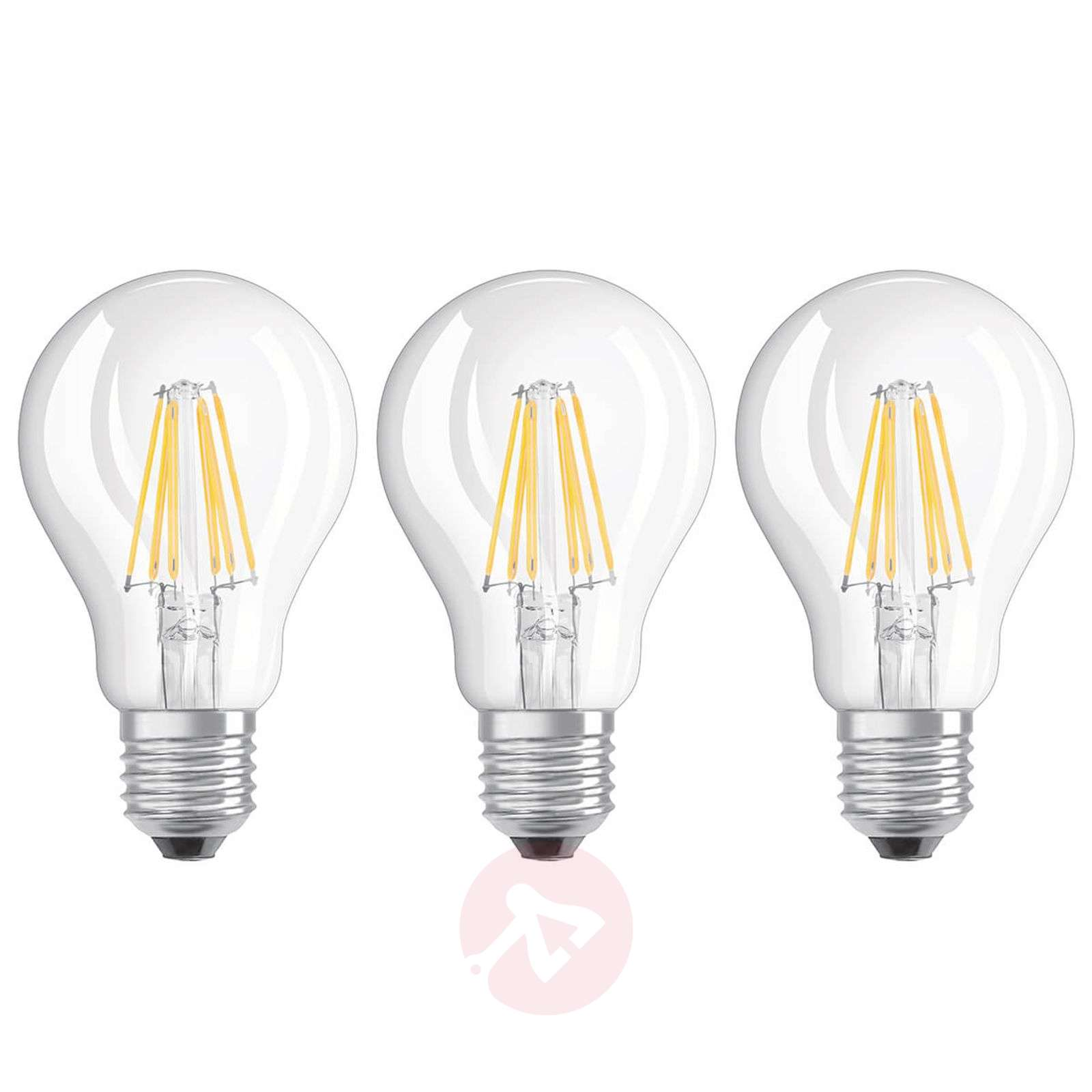 LED filament bulb E27 6 W, warm white, set of 3-7262097-01