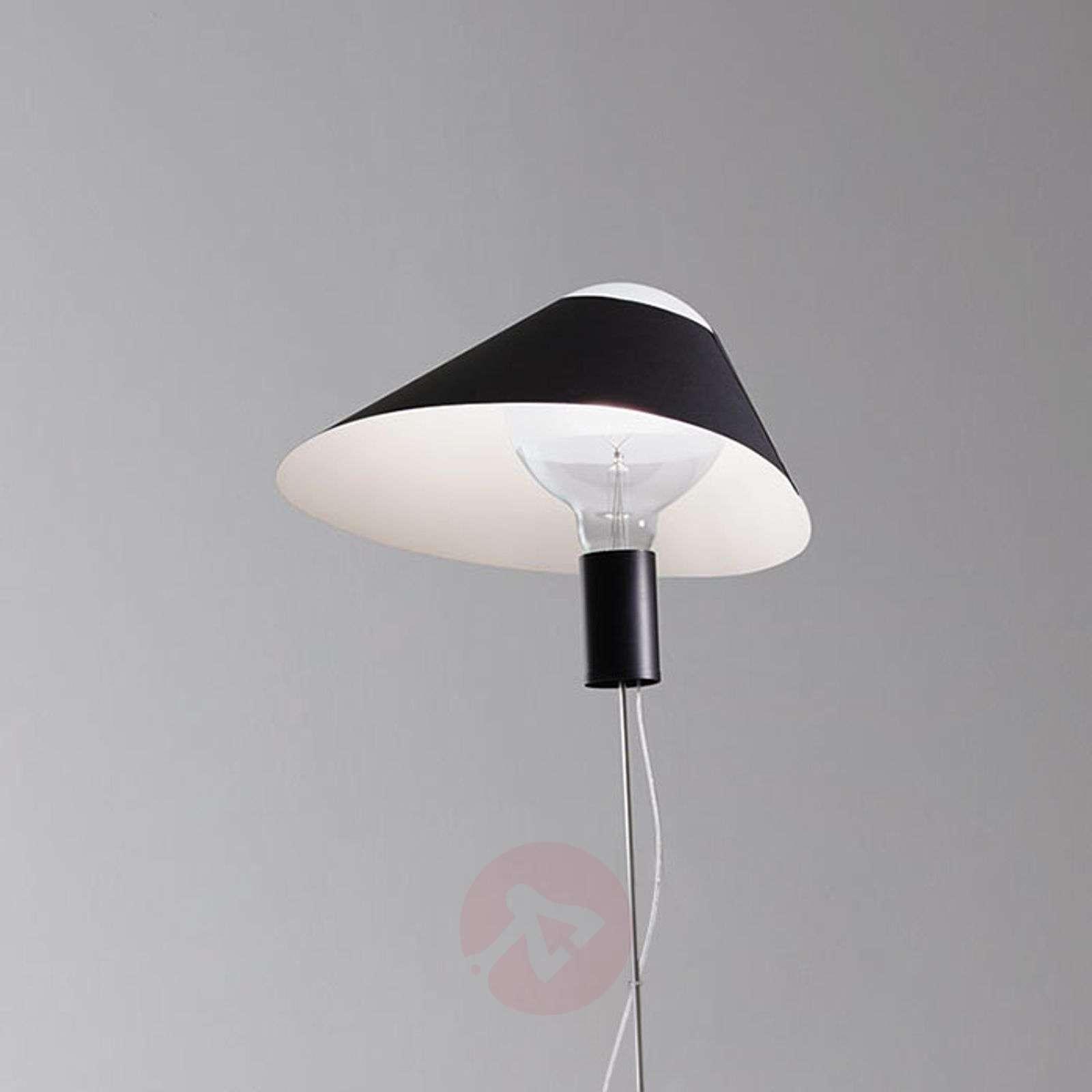 LED floor lamp Glatzkopf with cardboard lampshade-5026116X-01