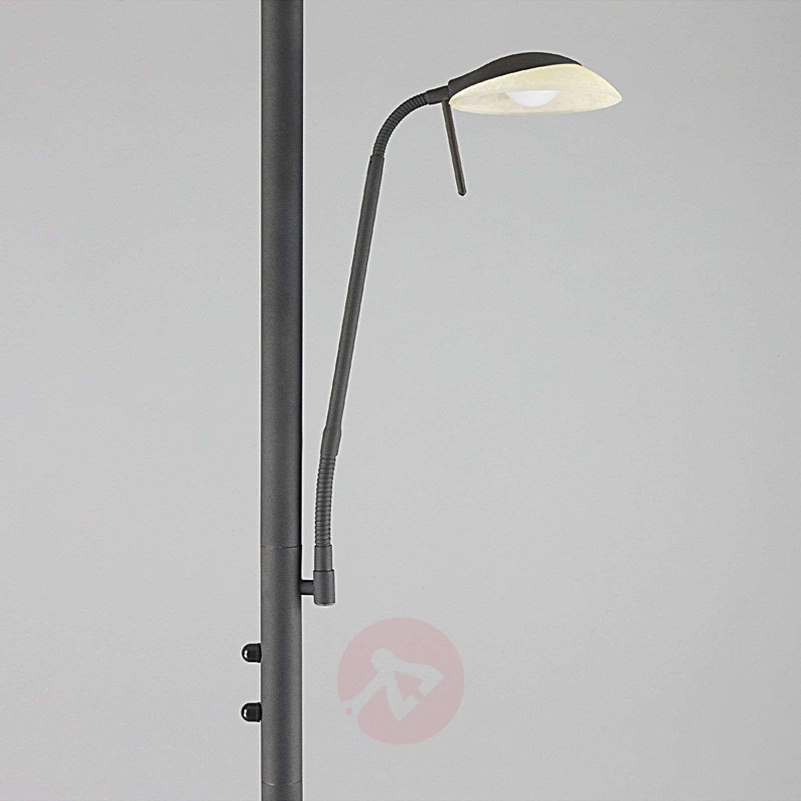 LED floor lamp Ragna with reading light, rust-9620650-011