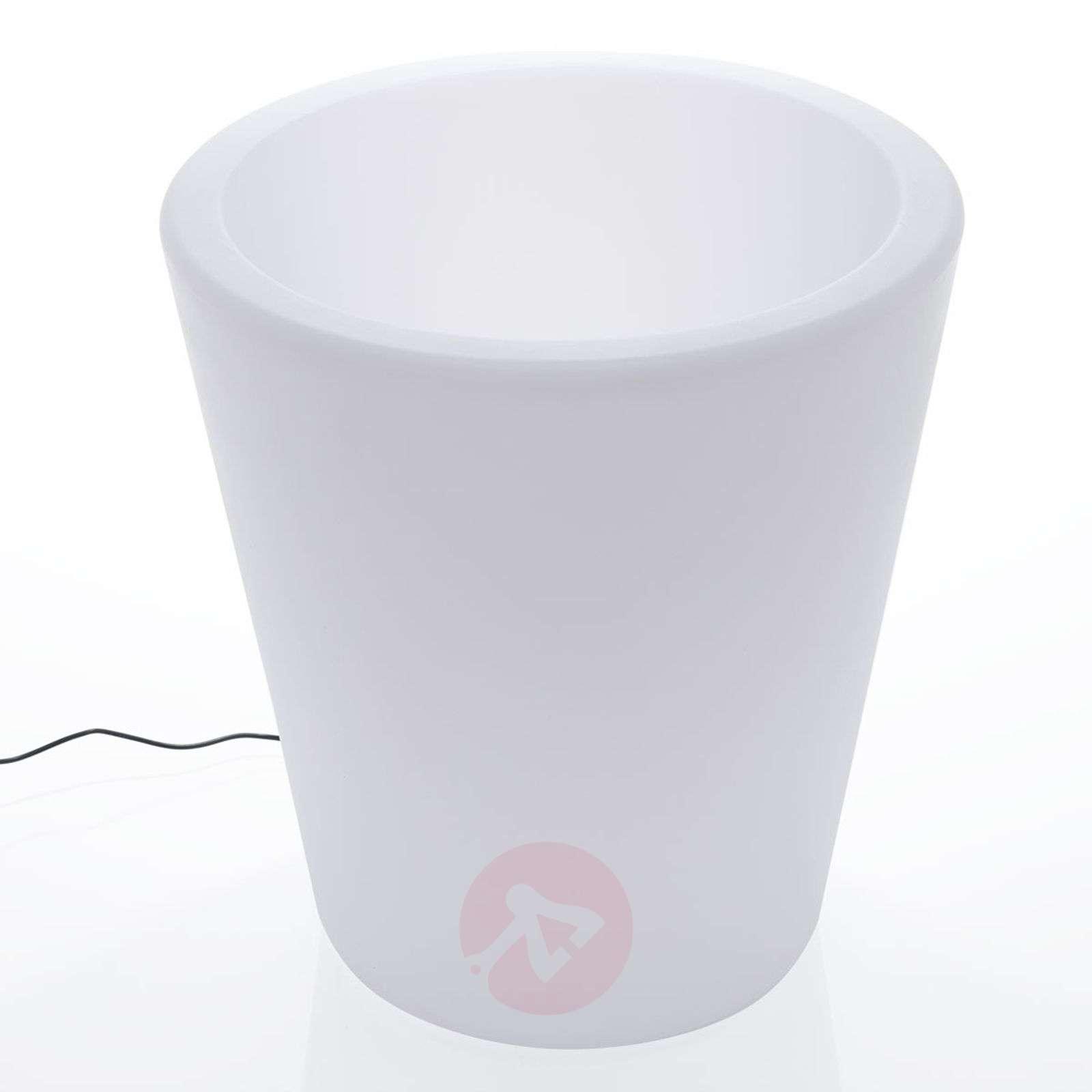 LED flowerpot light Leyra, RGB, remote control-6729016-01