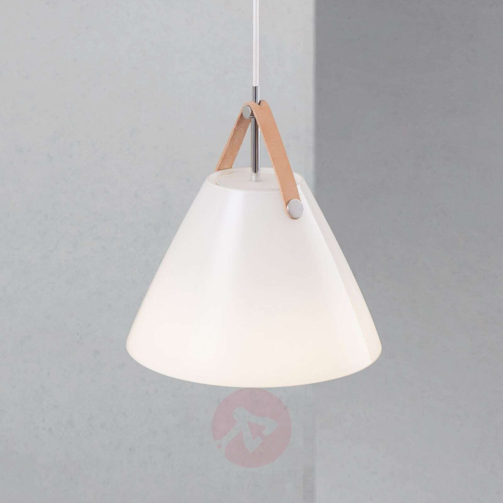 LED glass pendant light Strap 27 m, leather straps-7006017-01
