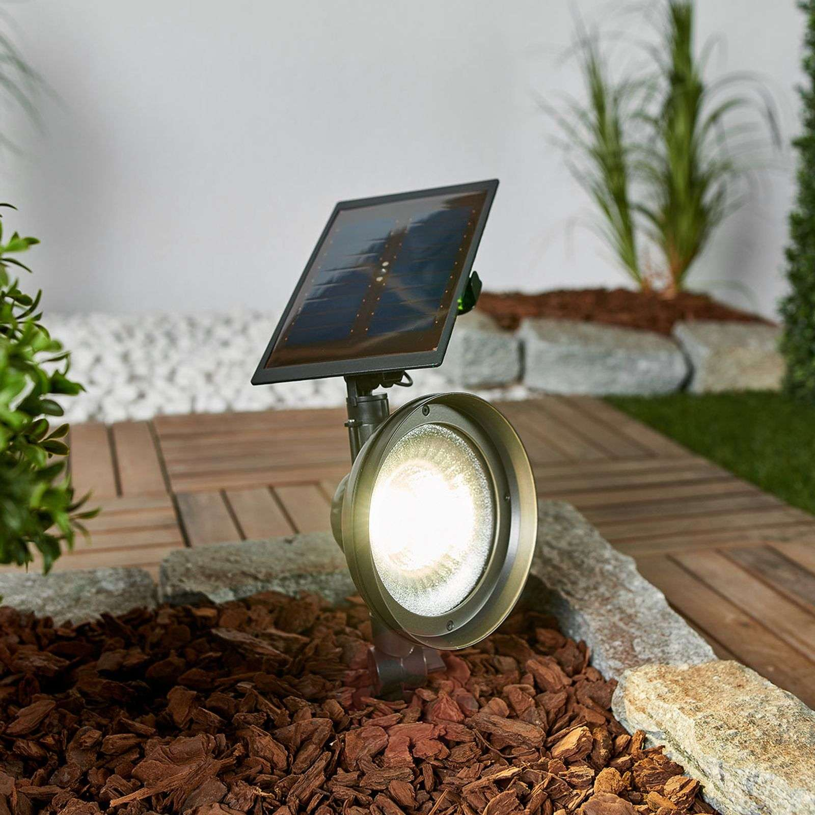 LED ground spike light Riley with solar panel-2610034-01