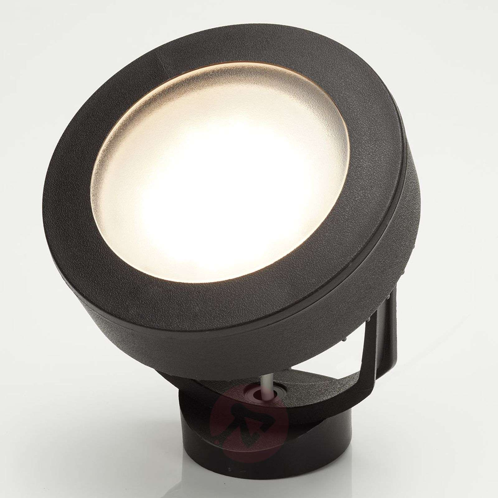 LED outdoor spotlight Tommy 10 W warm white, black-3538089-01