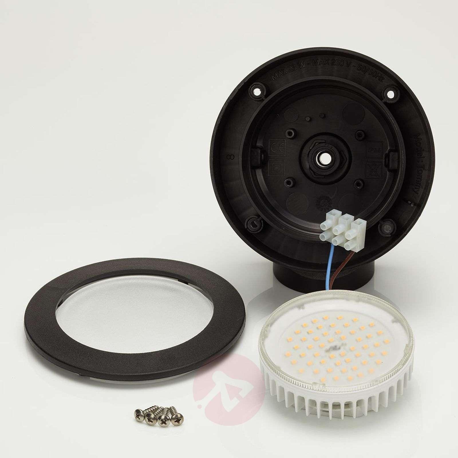 LED outdoor spotlight Tommy 10 W warm white, black-3538089-01
