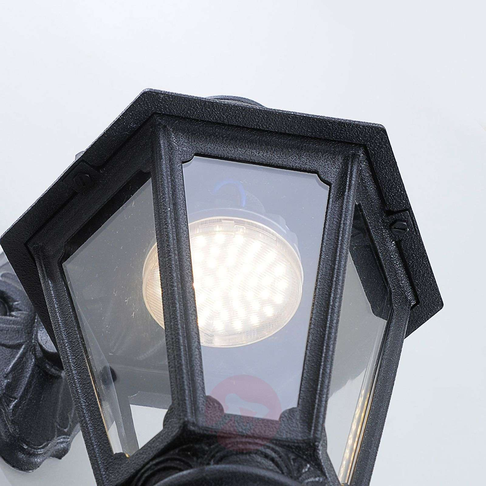 LED outdoor wall lamp Bisso Anna black downwards-3538028-03