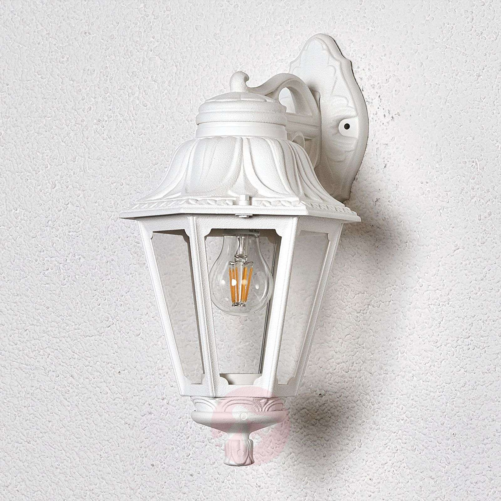 LED outdoor wall lamp Bisso Anna white downwards-3538048-01