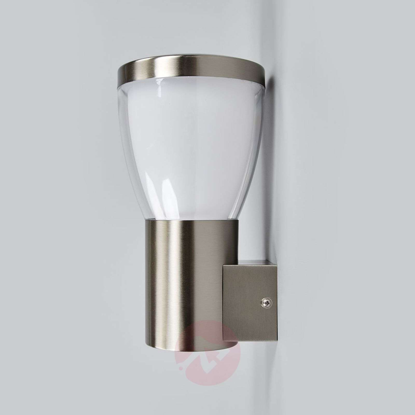 LED outdoor wall lamp Selma, stainless steel-9647086-01