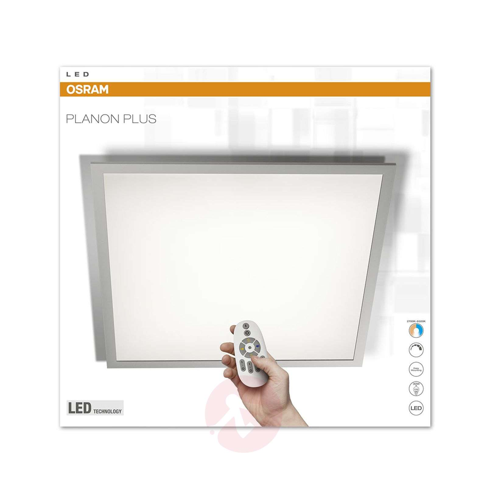 LED panel Planon Plus CCT with remote control-7261229-01