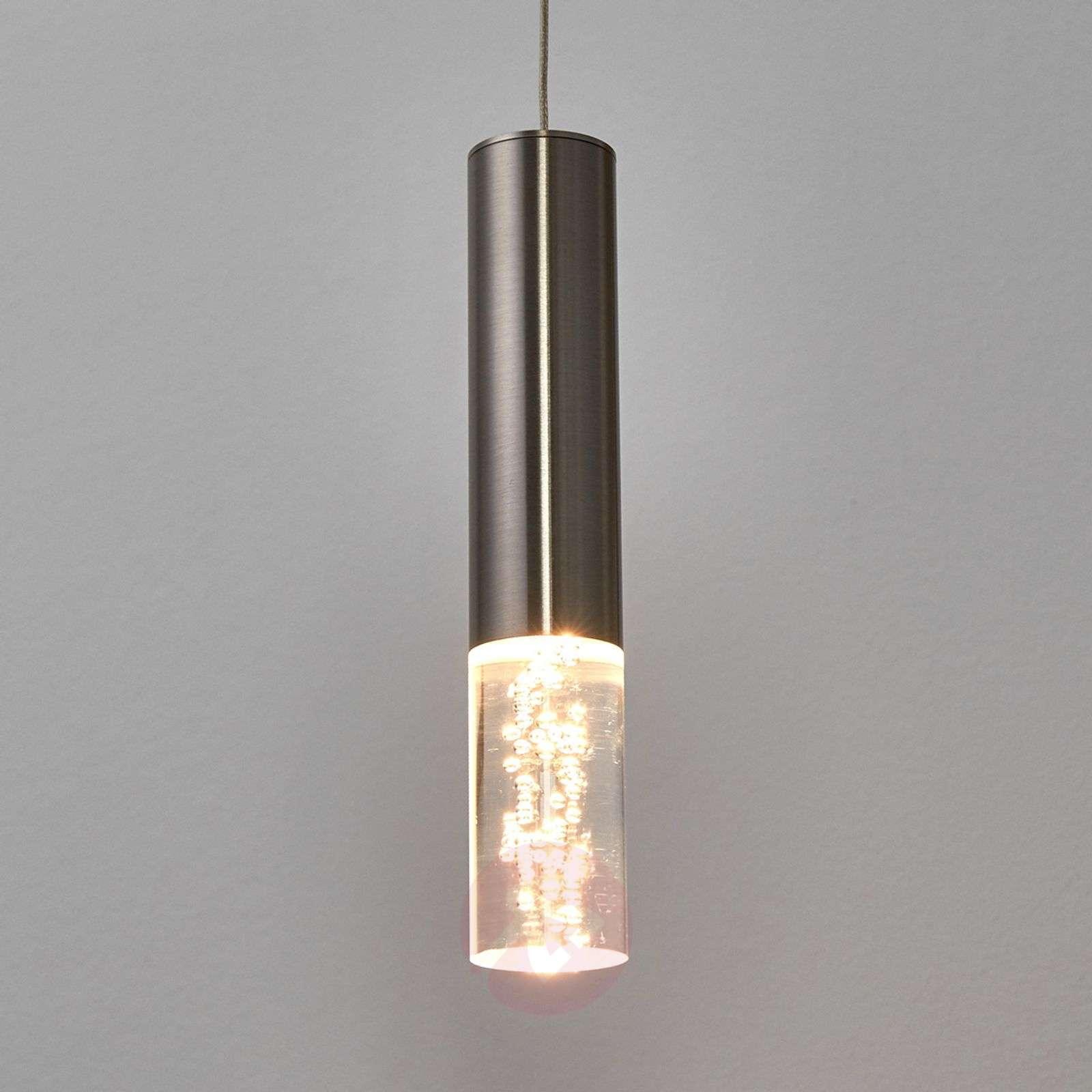Led pendant light bubble one bulb