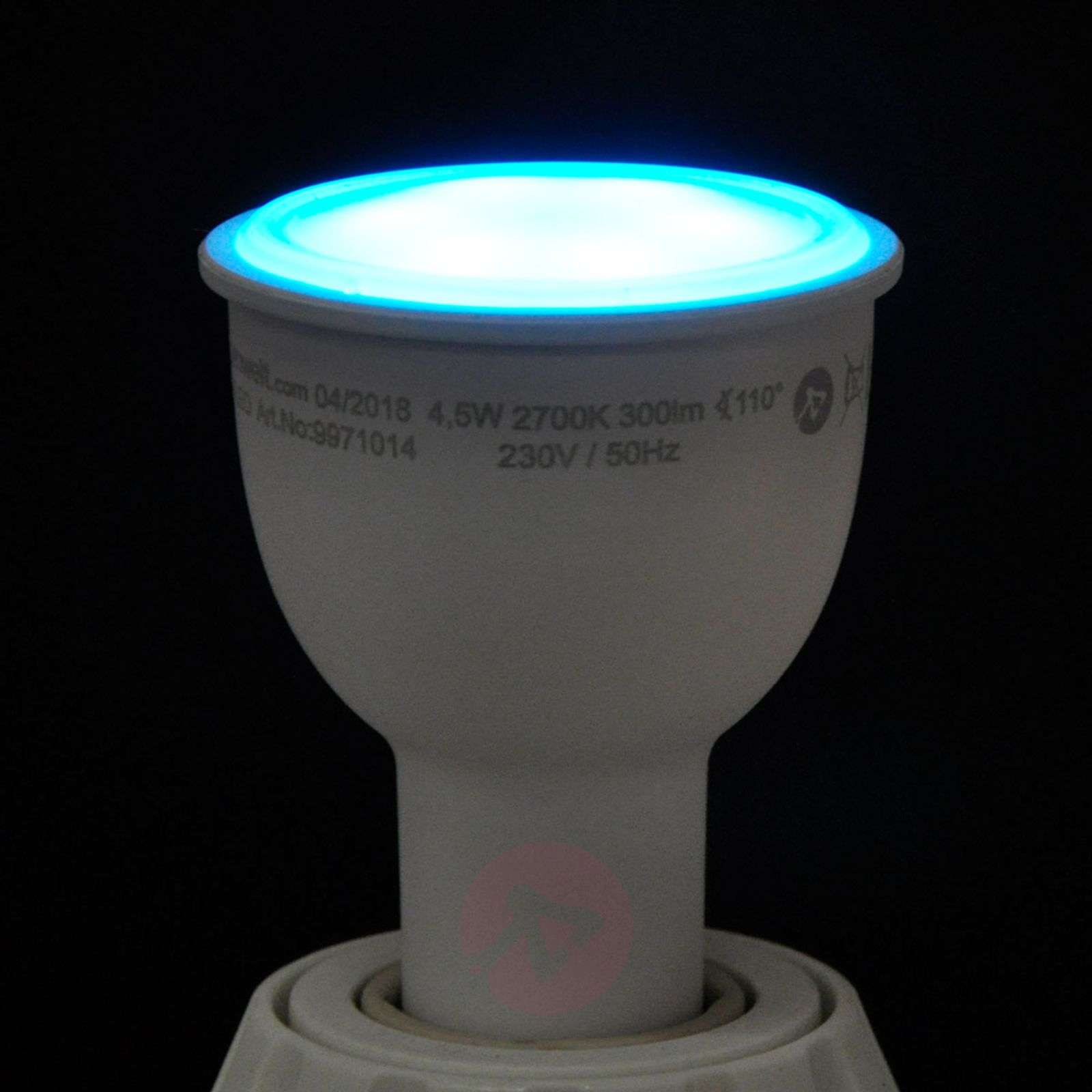 LED reflector bulb 110degree GU10 4,5W, RGB, dimmable-9971014-01