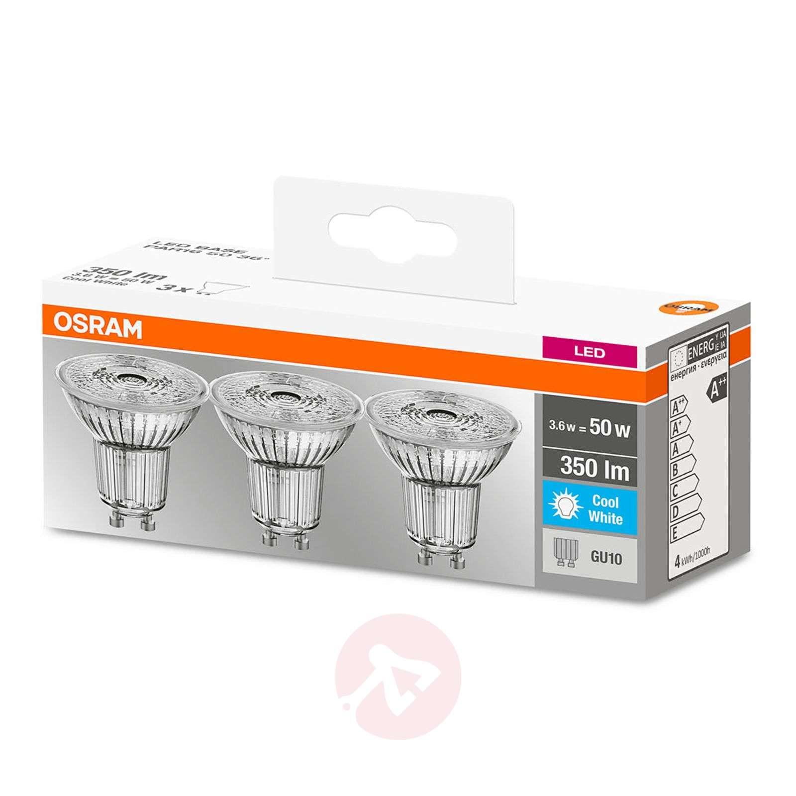 LED reflector bulb GU10 3,6W, cool white, set of 3-7262109-01