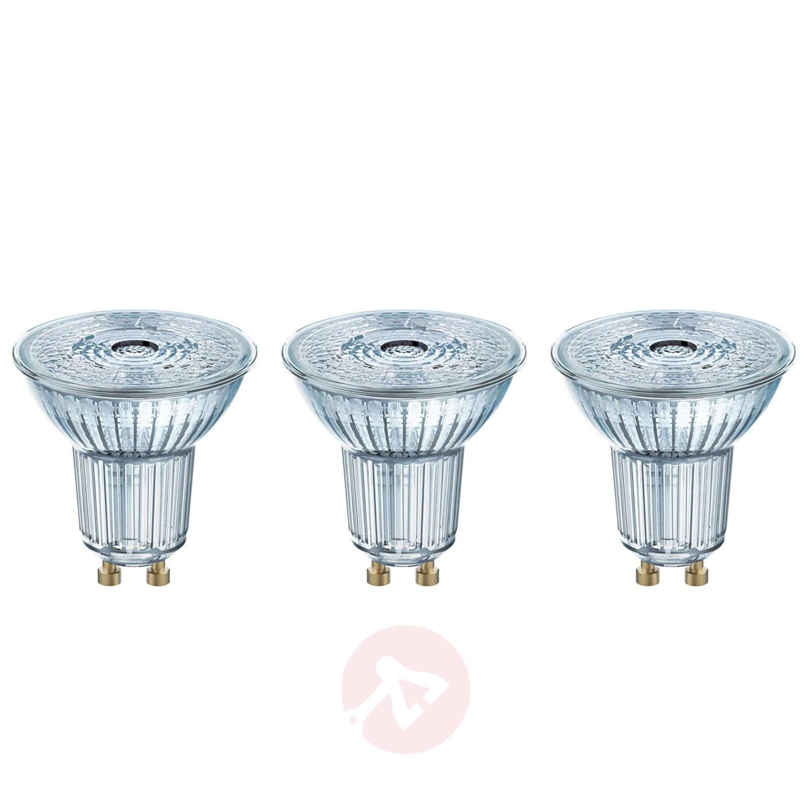 LED reflector bulb GU10 4,3W, cool white, set of 3-7262109-02