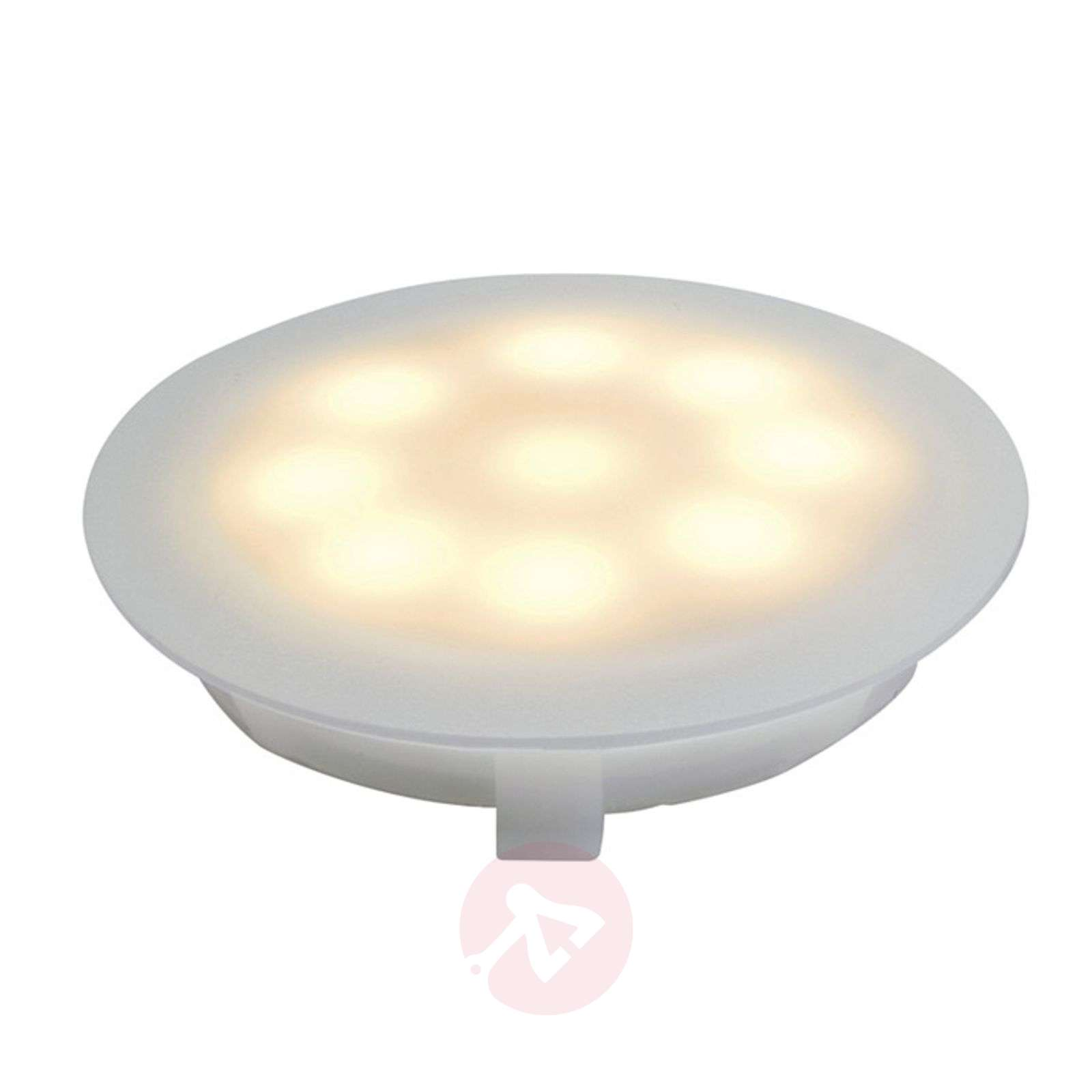 LED satin-finished recessed light, 1 W warm white-7600512-01