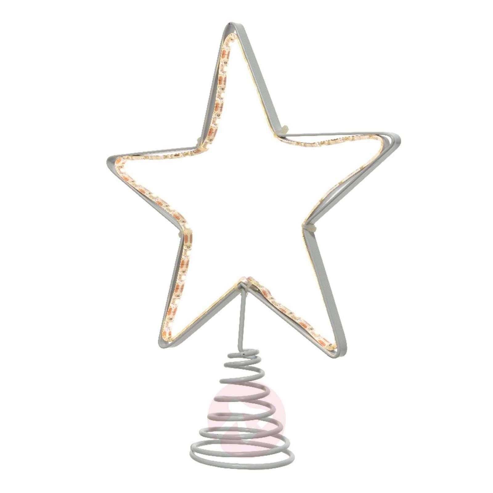 LED silhouette tree top metal star-5527171-01