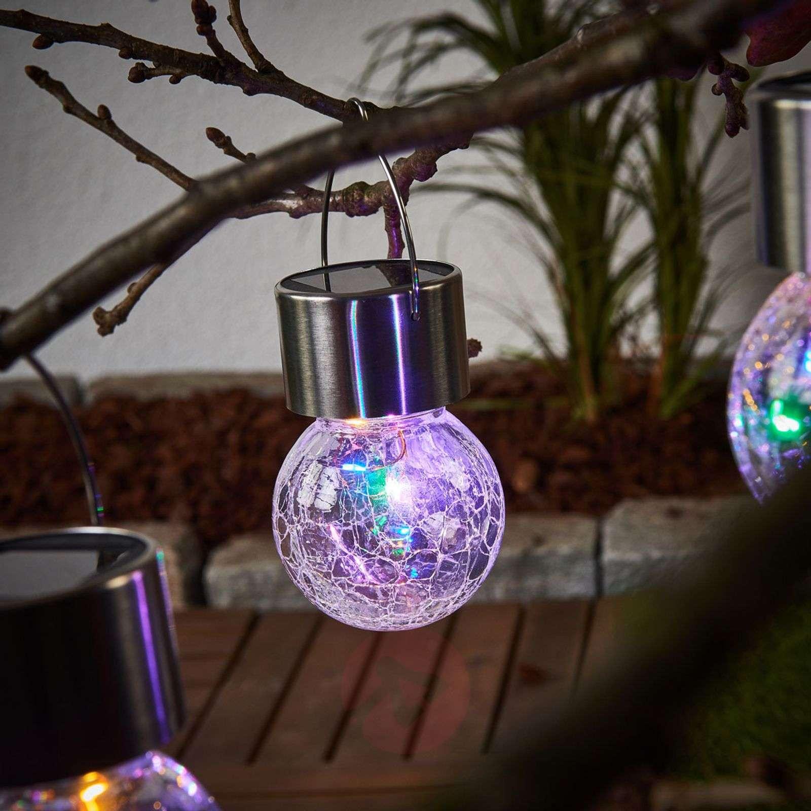 LED solar hanging lamp Colour Ball, set of 3-3012234-01