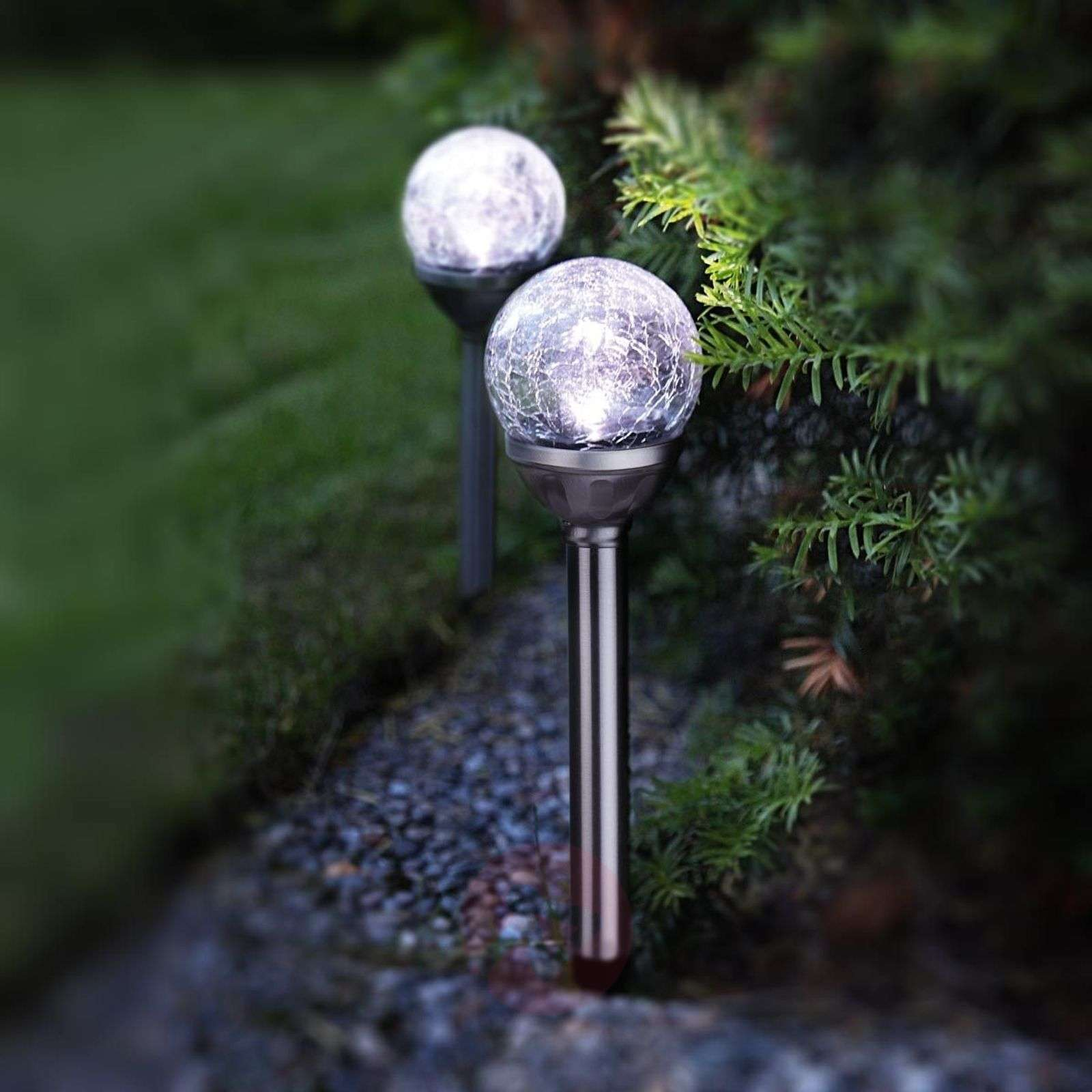 LED solar light rods with spheres set of 2-1522324-01