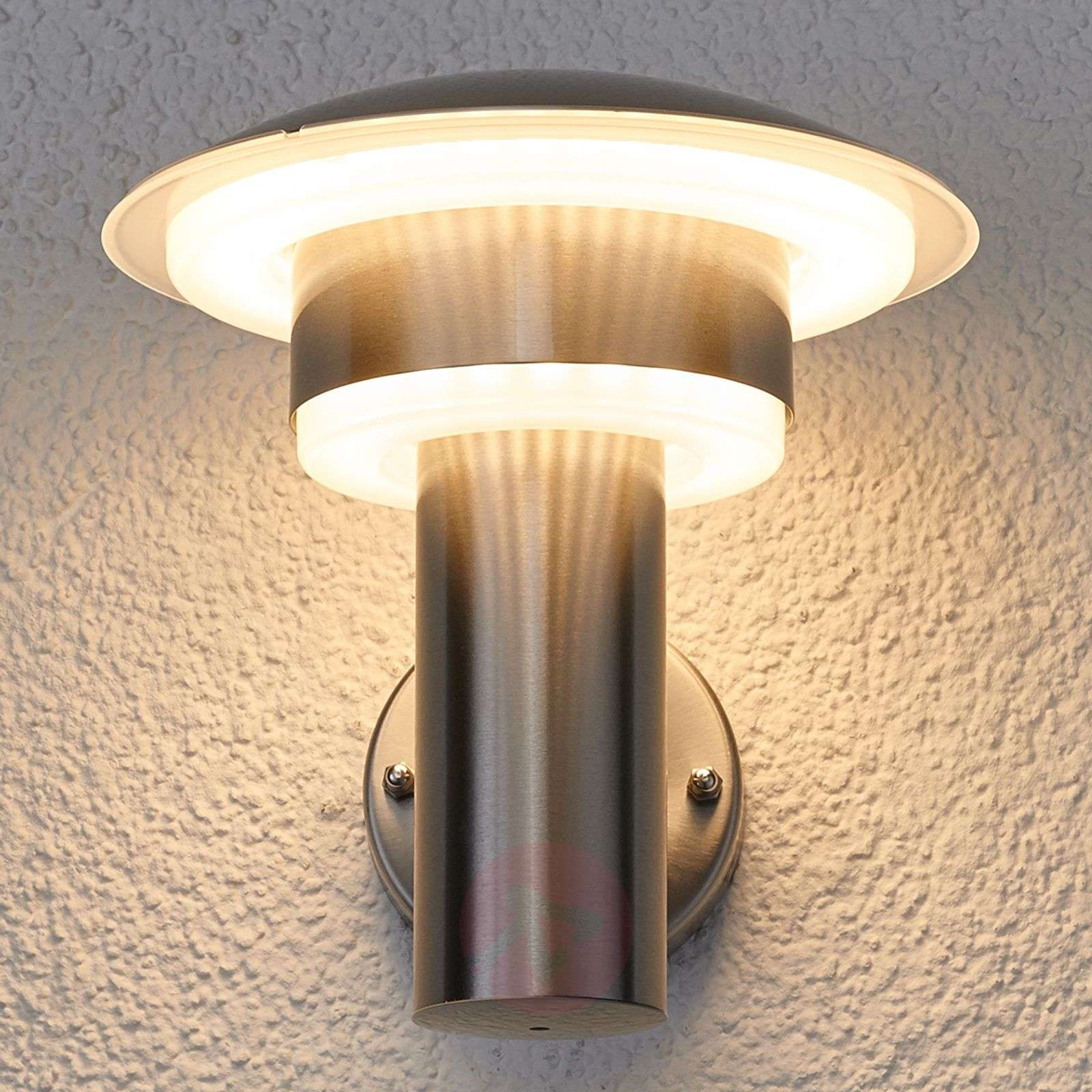 LED stainless steel outdoor wall light Lillie | Lights.ie