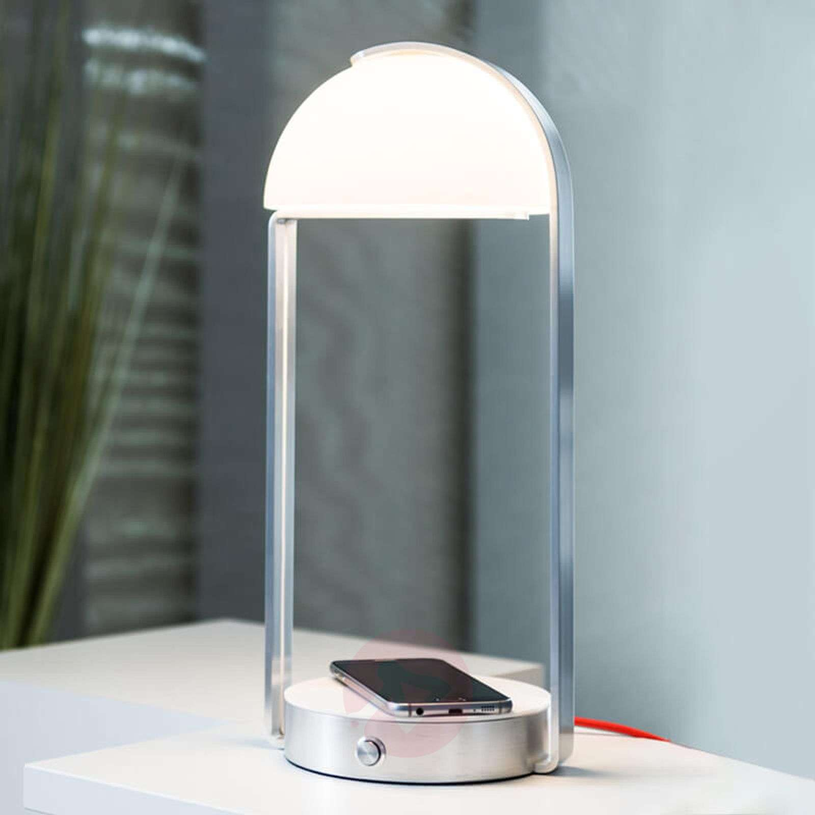 Led Table Lamp Brenda Inductive Charging Station Lights Ie