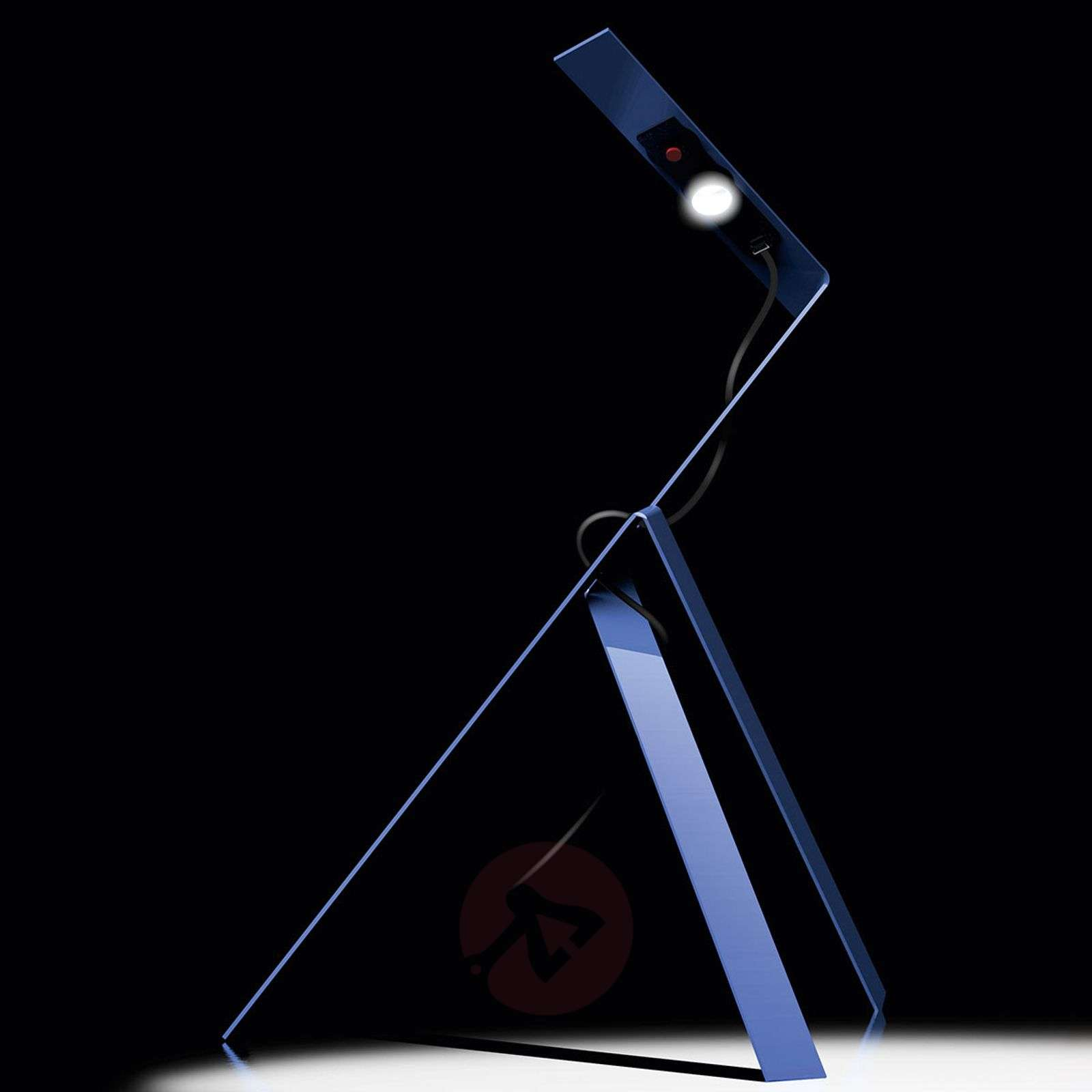 LED table lamp Jetzt² in an abstract design-5026098X-01