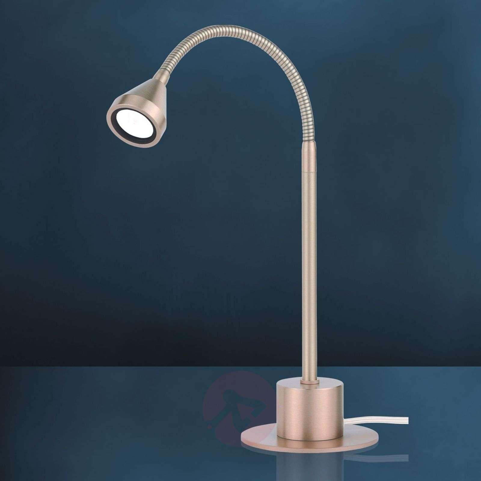 Led Table Lamp Mini Flexible Arm Cool White Lights Ie