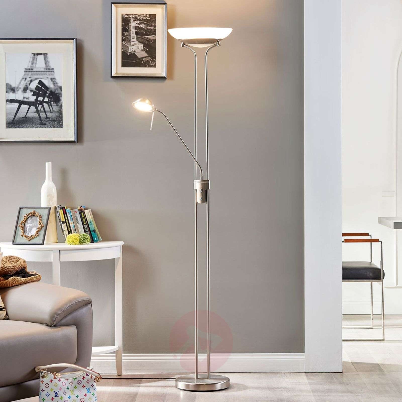 LED uplighter Yveta with a reading lamp-9620910-01