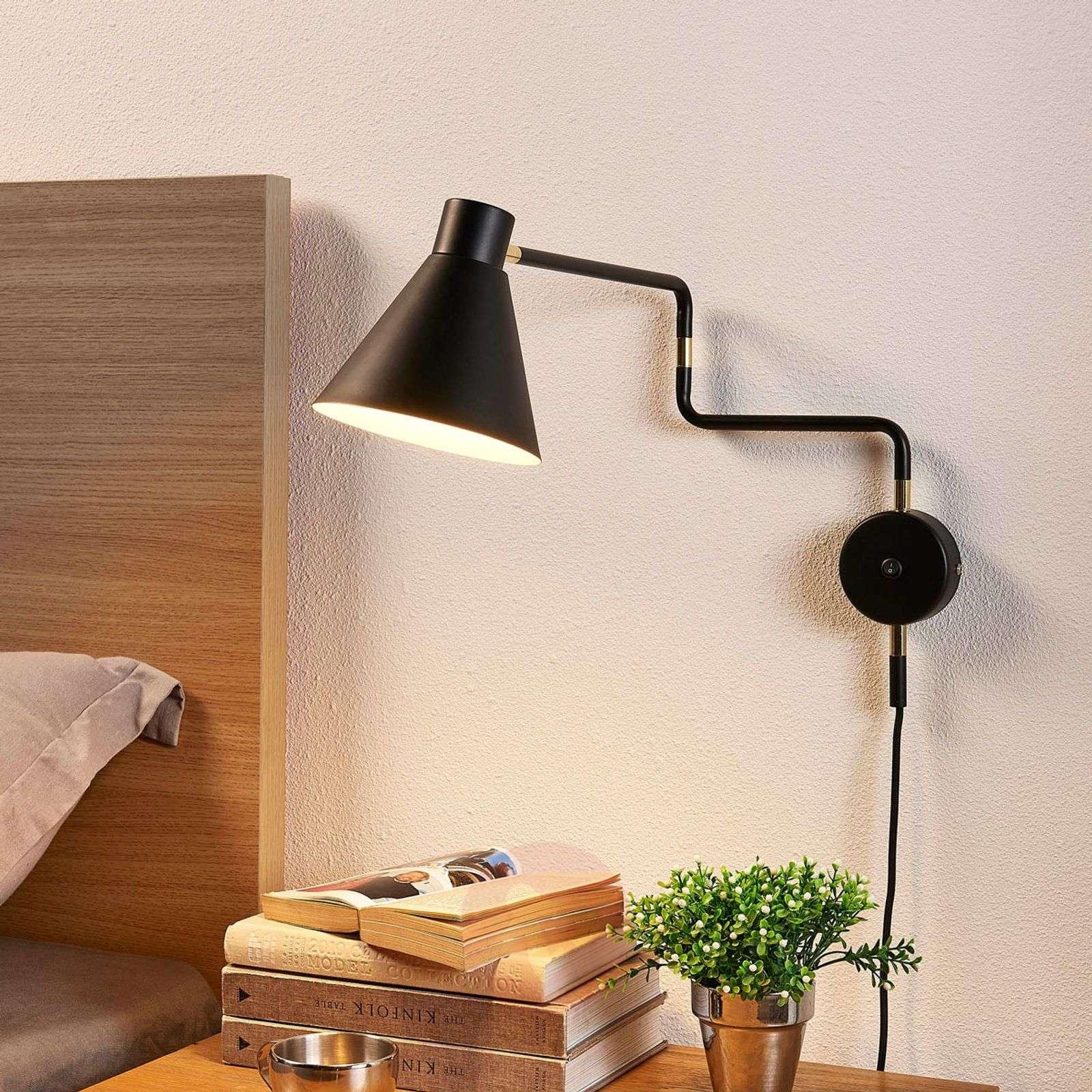 LED wall lamp Pria in black-9621096-01